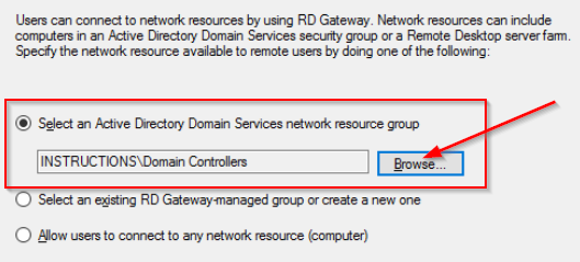 Select a resource group