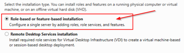 The choice of installation
