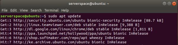 Update the Ubuntu package list