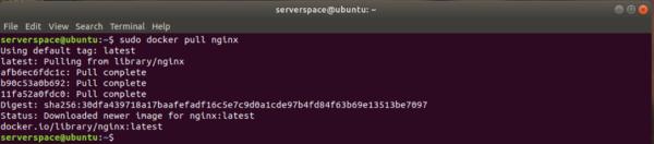 Downloading a Docker image