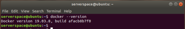 To check the version of Docker installed, run the command