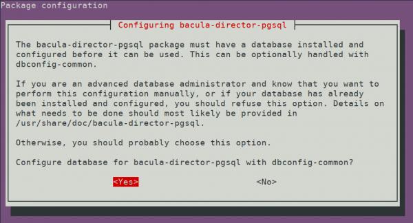 PostgreSQL database configuration