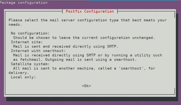 Postfix mail server configuration