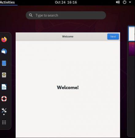 Remote desktop initial screen