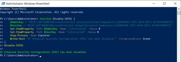 Paste the script in PowerShell