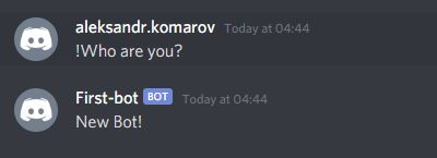 Checking the work of a new bot